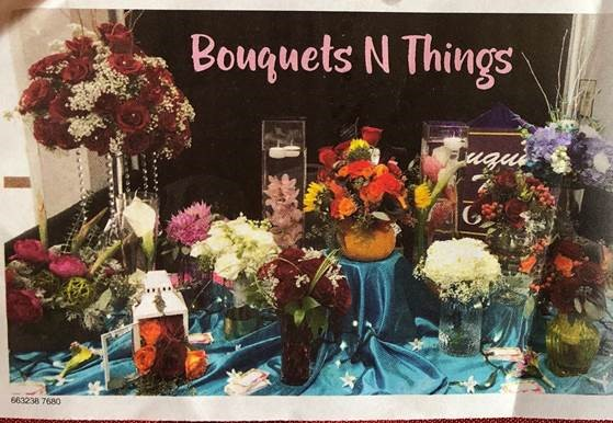 image of bouquets n things display